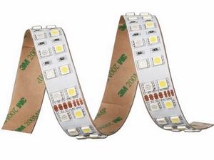 Double Row RGBW Flexible LED Strip, 120 pcs 5050 LEDs per Meter