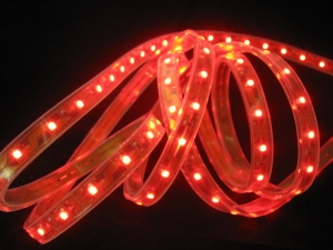 Red SMD 3528 Flexible LED Strip, 60 LEDs/m
