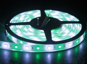 RGBW Flexible LED Strip, 30 White+30 RGB/m, IP67 Waterproof