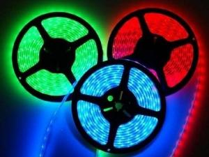 RGB Flexible LED Strip, 60 pcs 5050 LEDs/m, IP67 Waterproof