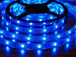 RGB Flexible LED Strip, 30 pcs SMD 5050 LEDs/m, IP67 Waterproof
