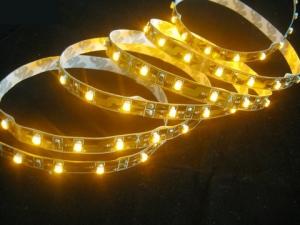 Warm White Flexible LED Strip, 60 pcs 3528 LEDs/m, IP20