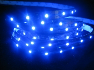 Blue SMD 3528 Flexible LED Strip, 60 LEDs/m