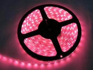 Pink SMD 3528 Flexible LED Strip, 60 LEDs/m