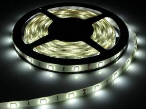 White Flexible LED Strip, 30 pcs SMD 5050 LEDs/m, IP65